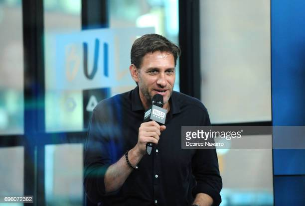 Radio Host Mike Greenberg attends Build to discuss his partnership with Dove Men Care and the new film 'There To Care' at Build Studio on June 14...