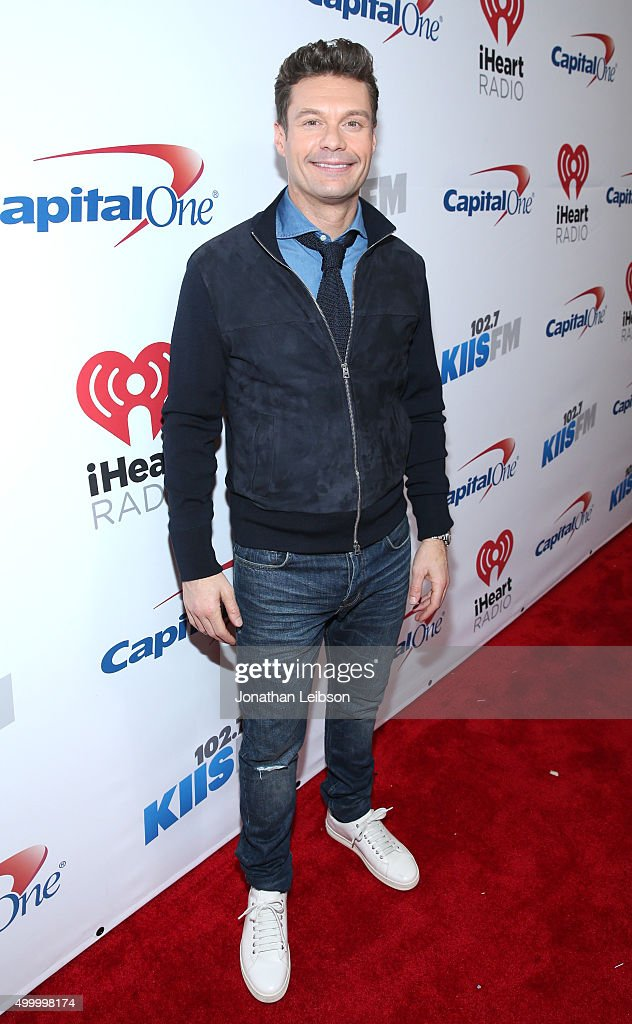 TV/radio personality Ryan Seacrest attends 102.7 KIIS FM's Jingle Ball 2015 Presented by Capital One at STAPLES CENTER on December 4, 2015 in Los Angeles, California.