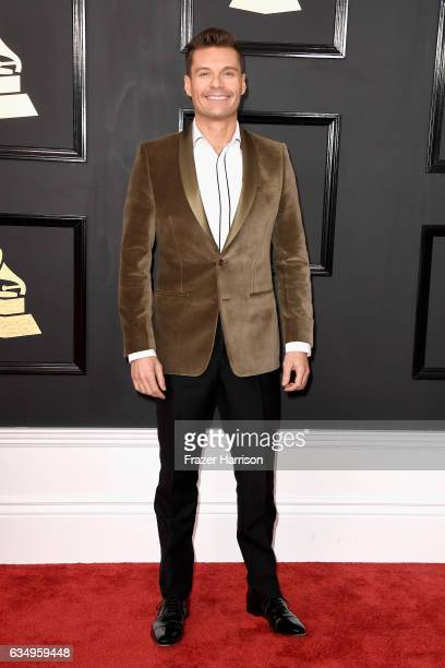Tv/Radio personality Ryan Seacrest attends The 59th GRAMMY Awards at STAPLES Center on February 12 2017 in Los Angeles California