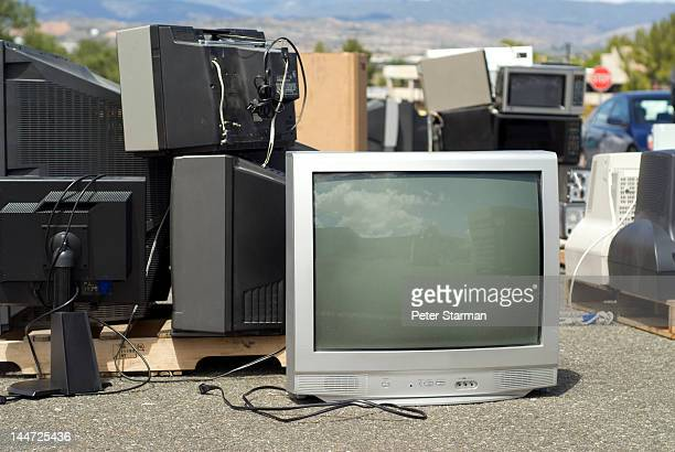 TVs, computer monitors & microwaves being recycled