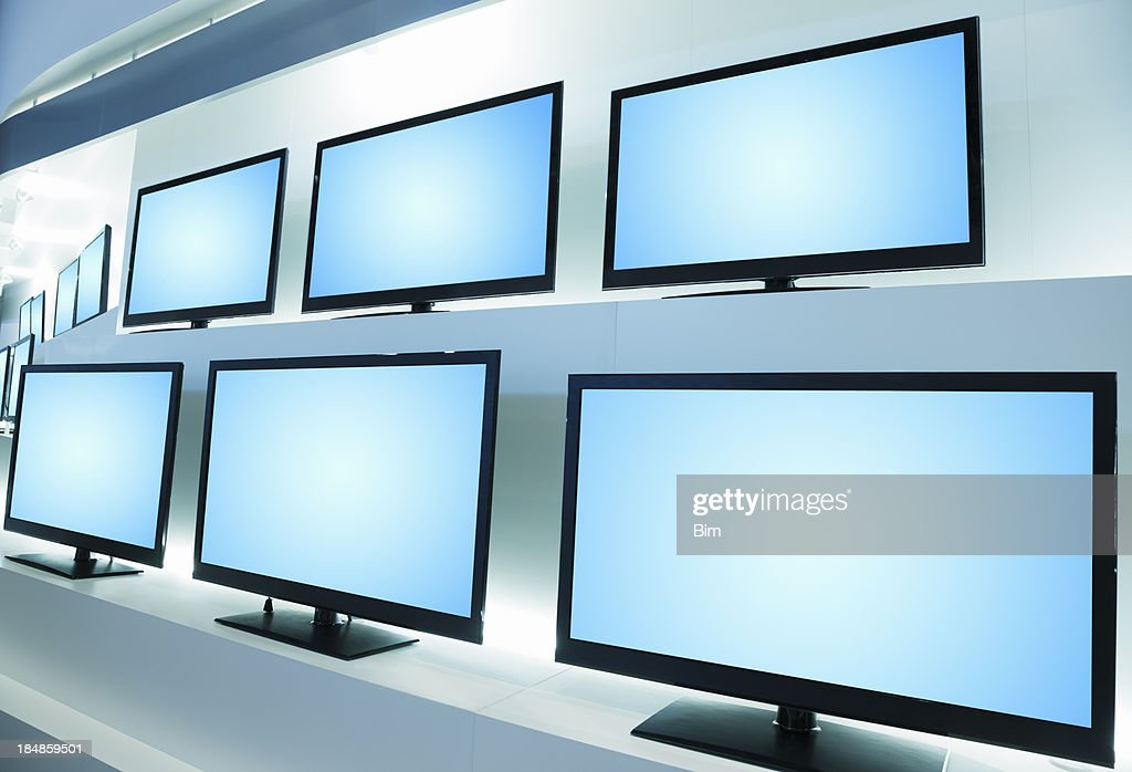 Rows of Modern LCD TVs