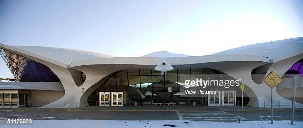 Twa Terminal Kennedy Airport New York United States Architect Eero Saarinen Twa Terminal Kennedy Airport Panoramic Exterior