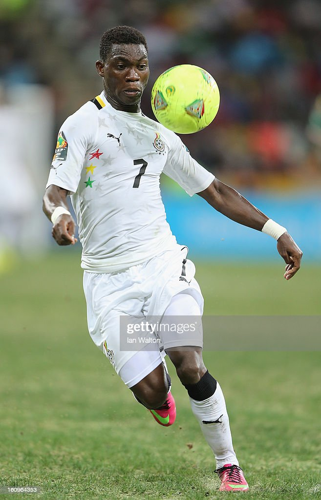 Twasam Christian Atsu of Ghana in action during the 2013 Africa Cup of Nations Semi-Final match between Burkina Faso and Ghana at the Mbombela Stadium on February 6, 2013 in Nelspruit, South Africa.