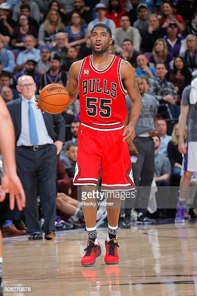 Twaun Moore of the Chicago Bulls handles the ball during the game against the Sacramento Kings on February 3 2016 at Sleep Train Arena in Sacramento...