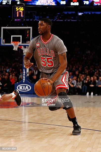 Twaun Moore of the Chicago Bulls in action against the New York Knicks at Madison Square Garden on December 19 2015 in New York City Knicks defeated...