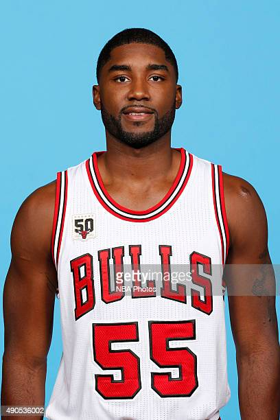 Twaun Moore of the Chicago Bulls poses for a portrait during Media Day on September 28 2015 at the Advocate Center in Chicago Illinois NOTE TO USER...