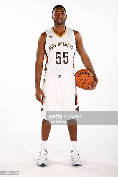 Twaun Moore of the New Orleans Pelicans poses for a portrait during the 2016 NBA Media Day on September 23 2016 at the Smoothie King Center in New...