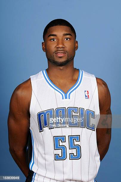 Twaun Moore of the Orlando Magic poses for a photo at media day on October 1 2012 at Amway Center in Orlando Florida NOTE TO USER User expressly...