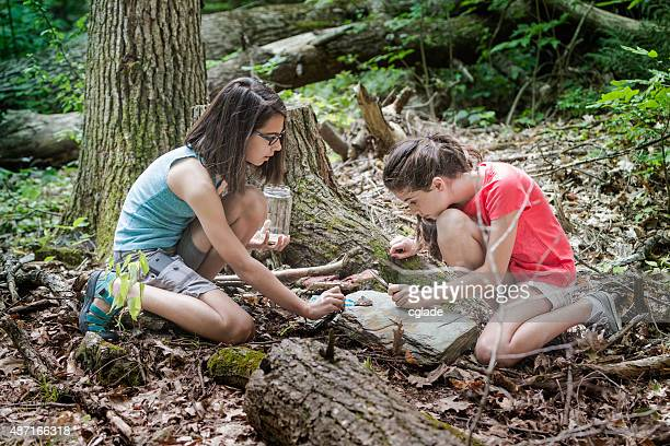 Tweens Studying Nature