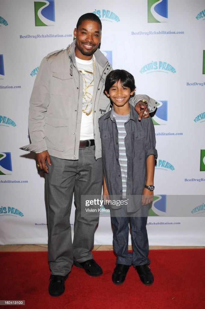 Tweet from Next and his son attend 'Imagination Heals' Children's Art Launch at The Beverly Hilton Hotel on February 22, 2013 in Beverly Hills, California.