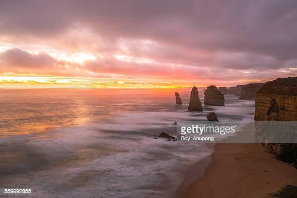 Twelve Apostle with the sunset, Australia.