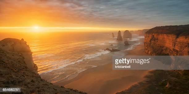 Twelve Apostles at dusk, Great Ocean Road, Victoria, Australia