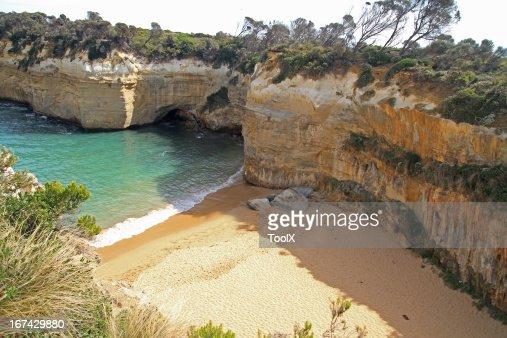Twelve Apostles zona costeira : Foto de stock