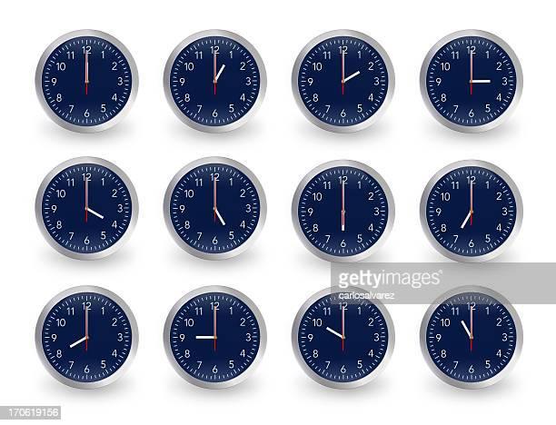Dodici clock, 12 ore.