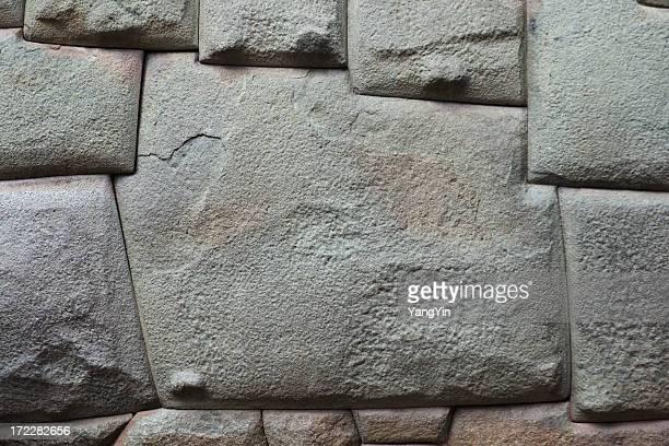 Doce esquinas de pared de piedra, ángulos tallada en Inca, Perú, Cuzco
