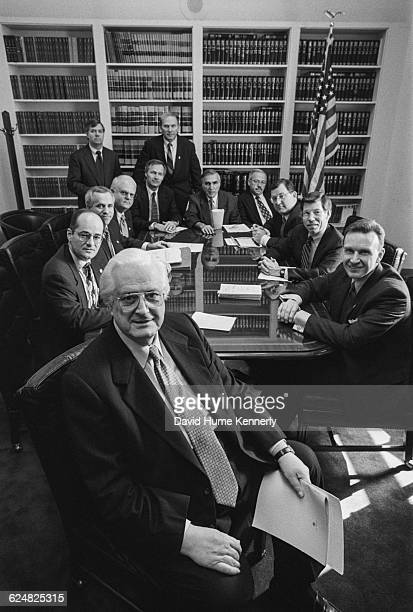 Twelve of the 13 Republican congressmen who managed the House Impeachment Trial of Bill Clinton gathered in a Committee Room on February 12 the day...