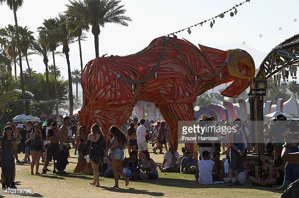 Twelve Shades Of PassAni art installation by Keith Greco is seen during day 2 of the 2015 Coachella Valley Music And Arts Festival at The Empire Polo...