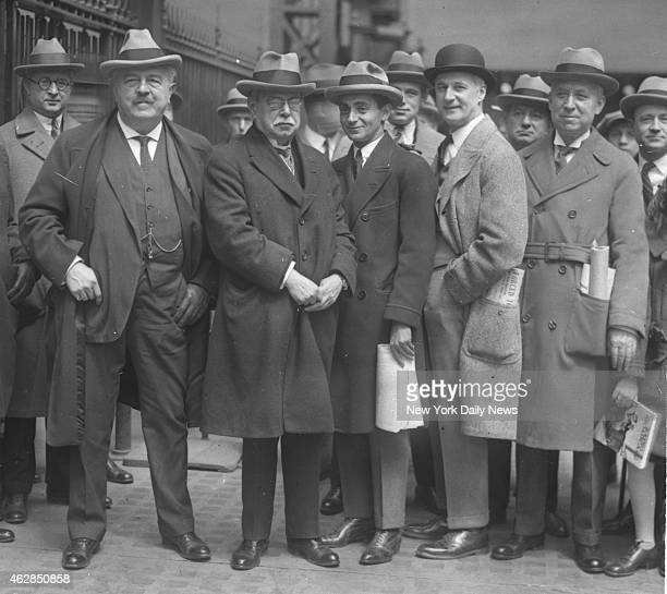 Twenty five famous composers among whom were Victor Herbert John P Sousa Irving Berlin H von Tilzer and W Jerome from left to right left New York...