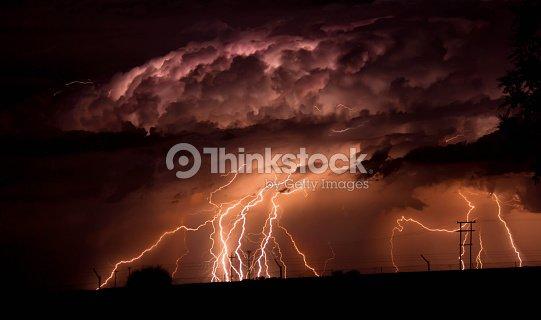 Twenty Lightning Bolts In One Frame