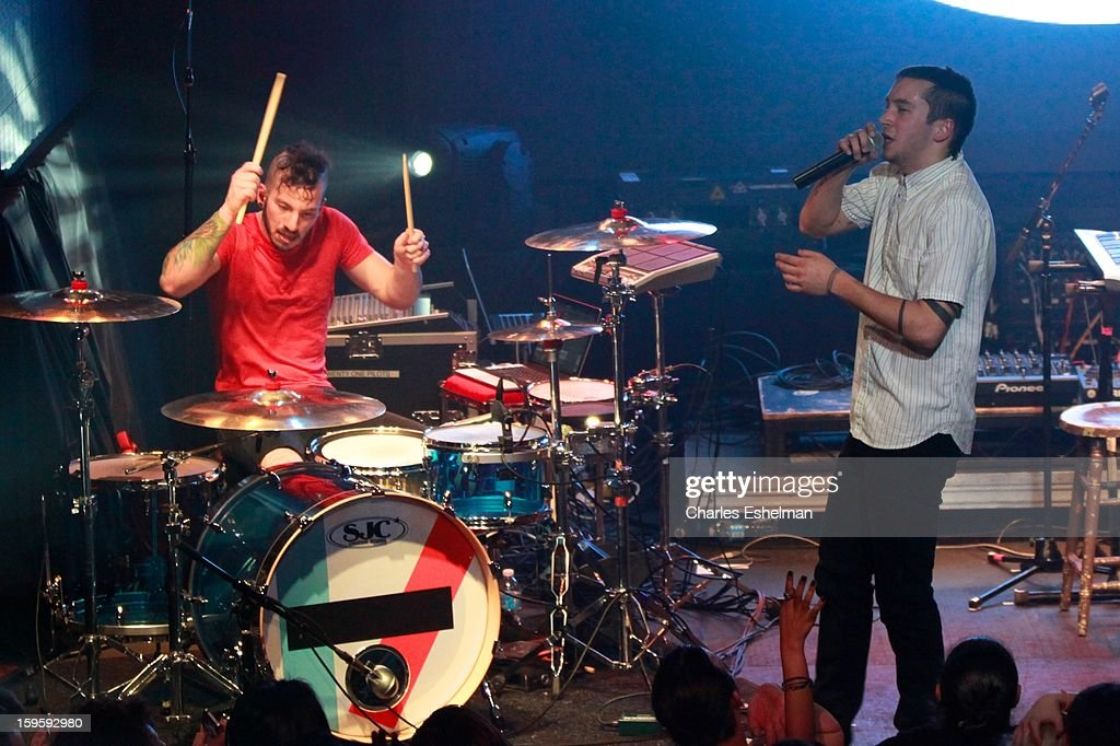 Twenty One Pilots perform during the 2013 MTV Artist To Watch Concert at Highline Ballroom on January 16, 2013 in New York City.