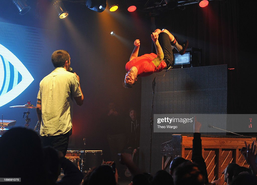 Twenty One Pilots performs during the 2013 MTV Artist To Watch Concert at Highline Ballroom on January 16, 2013 in New York City.