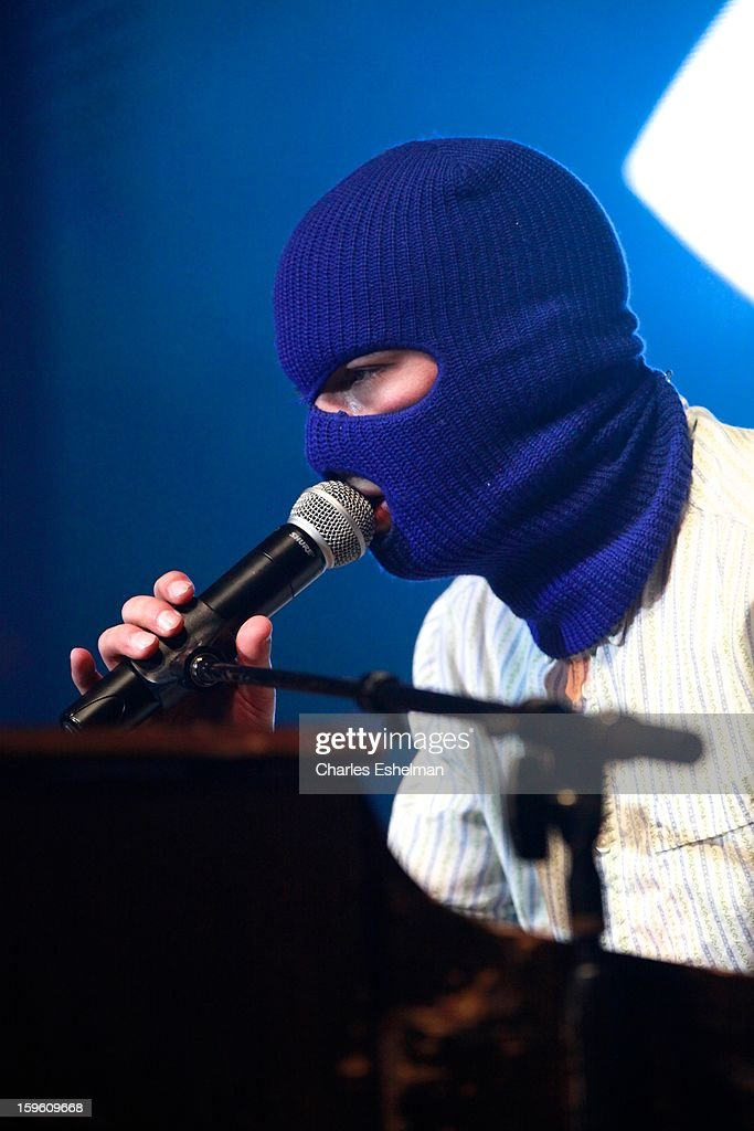 Twenty One Pilots singer Tyler Joseph performs during the 2013 MTV Artist To Watch Concert at Highline Ballroom on January 16, 2013 in New York City.