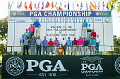 Twenty PGA Club professionals gather in preparation for the 98th PGA Championship which opens July 28 at Baltusrol Golf Club July 26 2016 in...