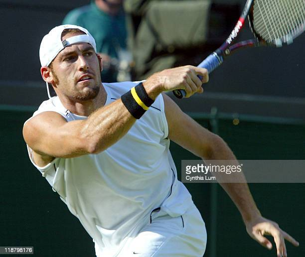 Twenty Seventh seed Robby Ginepri scores an upset at the Wimbledon Championships with a 63 64 61 win over 6th seed Juan Carlos Ferrero