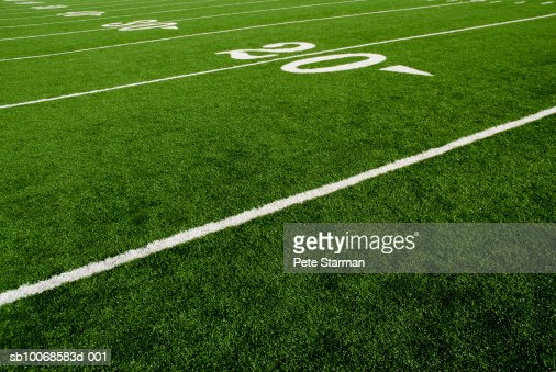 Twenty yard line of football field