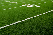 Twenty yard line of football field