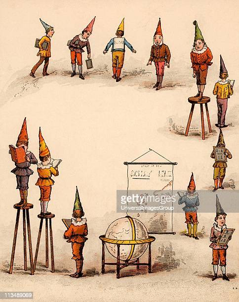 Twice Six are Twelve/Leave dunces to themselves/Naughty chaps to paint their caps/Twice six are ' From The Merry Multiplication Table by Irving...
