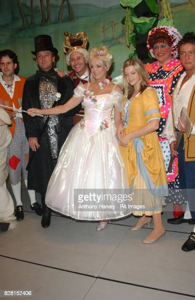 Twiggy attends a photocall for her new pantomime 'Jack the Beanstalk'