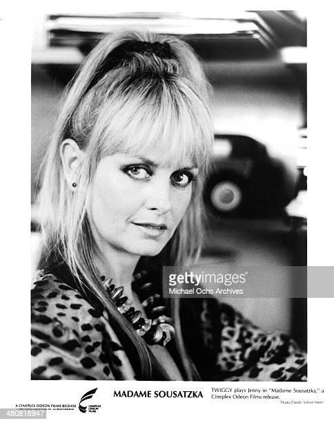 Twiggy poses in a scene from the Cineplex Odeon movie 'Madame Sousatzka ' circa 1988