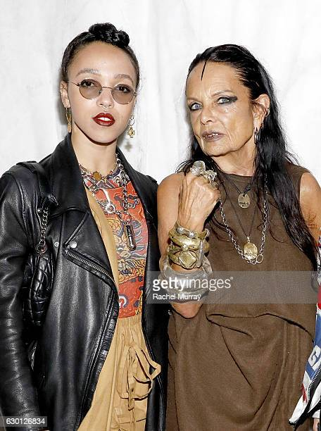 Twigs and Michele Lamy Organizer of 'Rick Owens Furniture' and Rick Owen's partner attend MOCA's Leadership Circle and Members' Opening for 'Rick...