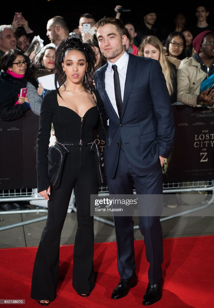 Twigs and Robert Pattinson arrive at The Lost City of Z UK premiere on February 16, 2017 in London, United Kingdom.