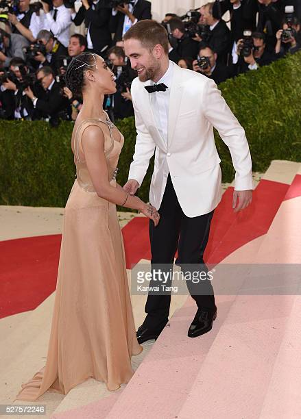 Twigs and Robert Pattinson arrive for the 'Manus x Machina Fashion In An Age Of Technology' Costume Institute Gala at Metropolitan Museum of Art on...