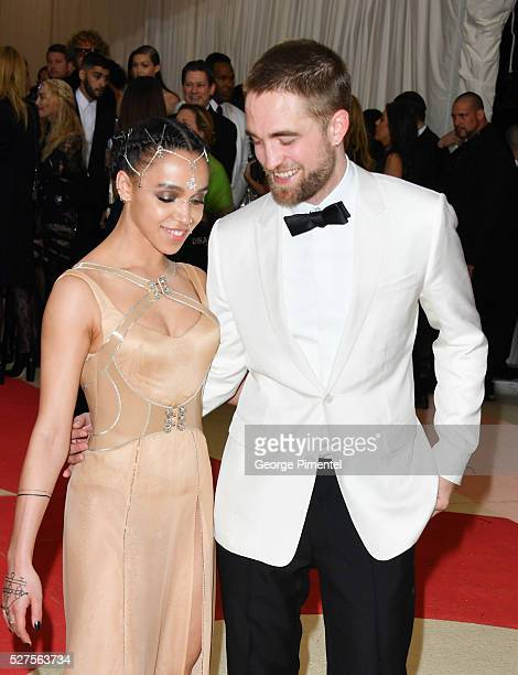 Twigs and Robert Pattinson attend the 'Manus x Machina Fashion in an Age of Technology' Costume Institute Gala at the Metropolitan Museum of Art on...