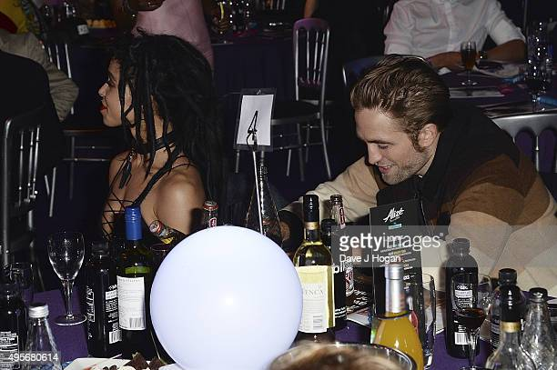 Twigs and Robert Pattinson attend the MOBO Awards at First Direct Arena on November 4 2015 in Leeds England