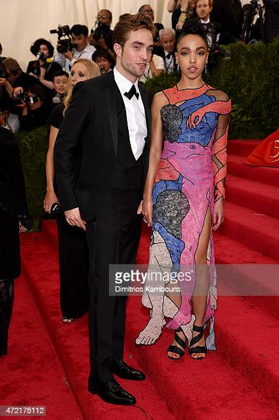 FKA twigs and Robert Pattinson attends the 'China Through The Looking Glass' Costume Institute Benefit Gala at the Metropolitan Museum of Art on May...