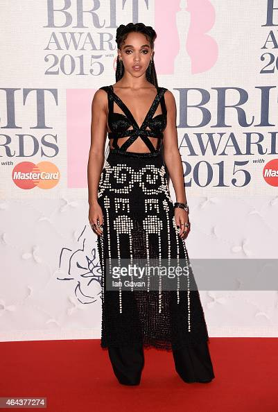 Twigs attends the BRIT Awards 2015 at The O2 Arena on February 25 2015 in London England