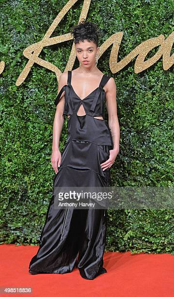 Twigs attends the British Fashion Awards 2015 at London Coliseum on November 23 2015 in London England