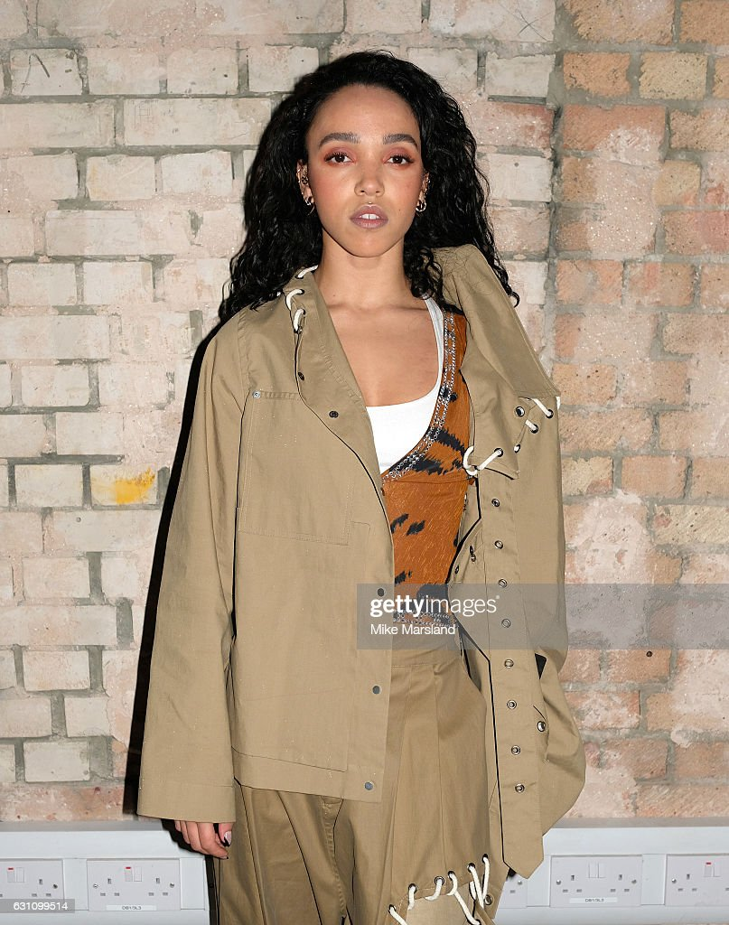 FKA twigs attends the Craig Green show during London Fashion Week Men's January 2017 collections at on January 6, 2017 in London, England.