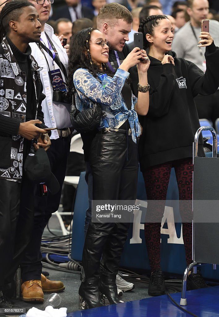 Twigs attends the Denver Nuggets v Indiana Pacers match as part of the NBA Global Games London 2017 at The O2 Arena on January 12, 2017 in London, England.