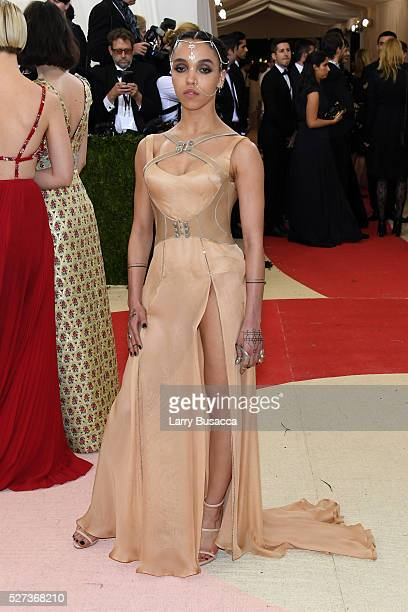 Twigs attends the 'Manus x Machina Fashion In An Age Of Technology' Costume Institute Gala at Metropolitan Museum of Art on May 2 2016 in New York...
