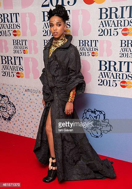 Twigs attends the nominations launch for The Brit Awards 2015 at ITV Studios on January 15 2015 in London England