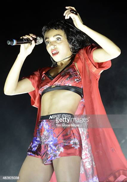 Twigs performs during Lollapalooza at Grant Park on August 2 2015 in Chicago Illinois