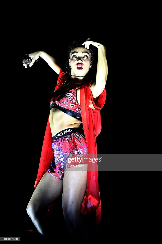 Twigs performs in concert on day 3 of Lollapalooza at Grant Park on August 2, 2015 in Chicago, Illinois.
