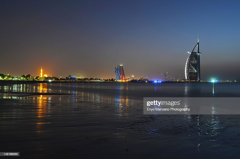 Twilight at Jumeirah Beach : Stock Photo