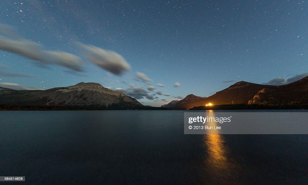 Twilight at Waterton Lake