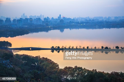 Twilight at West Lake, Hangzhou China